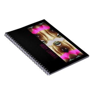 写真のノートの体のカーブ ノートブック