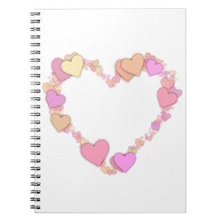 写真のノートのw/AllMyHeartsモモ ノートブック