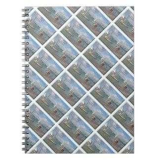 写真のノート(ビーチのボートが付いている80ページB&W) ノートブック
