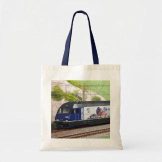 写真のパネルが付いているスイス人の列車 トートバッグ