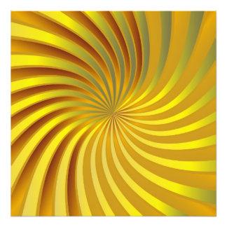 写真のプリントの金ゴールドの螺線形渦 フォトプリント