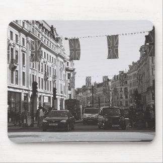 写真のロンドン白黒オックスフォードのサーカス マウスパッド