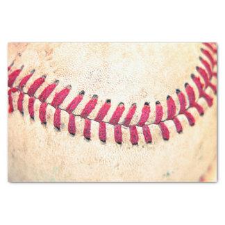 写真の上のヴィンテージの野球の終わり 薄葉紙
