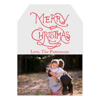 写真の休日カード: タイポグラフィのメリークリスマス カード