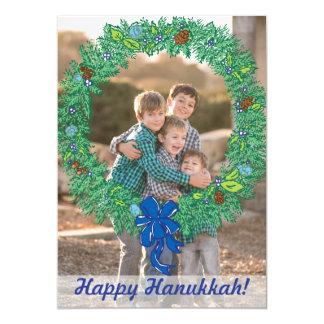 写真の休日カード: 幸せなハヌカーのリースの写真 カード