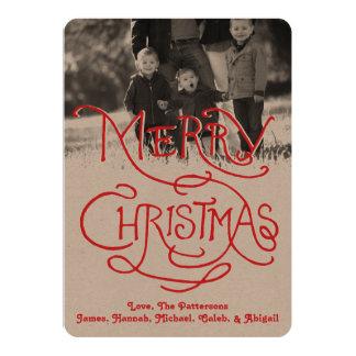 写真の休日カード: 職人のクラフトのメリークリスマス カード