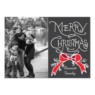 写真の休日カード: 黒板のメリークリスマス カード