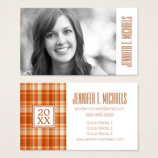写真の卒業|のオレンジ格子縞 名刺