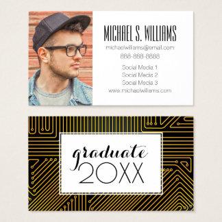 写真の卒業|コンピュータサーキットボード 名刺