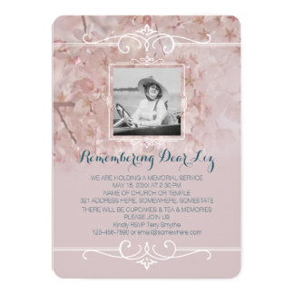 写真の告別式の挨りだらけのピンクの桜 カード