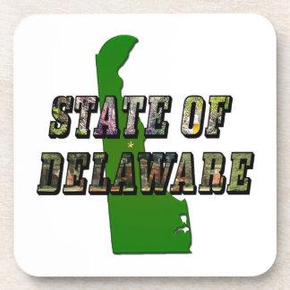 写真の文字および地図デラウェア州 コースター