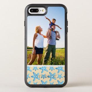 写真の水彩画の青いヒトデパターン オッターボックスシンメトリーiPhone 8 PLUS/7 PLUSケース