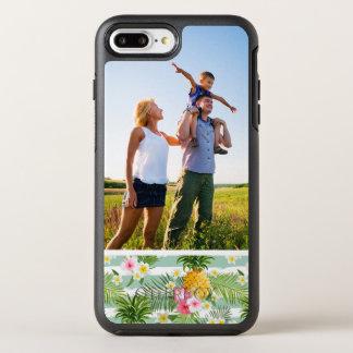 写真の熱帯花及びパイナップルは縞で飾ります オッターボックスシンメトリーiPhone 8 PLUS/7 PLUSケース
