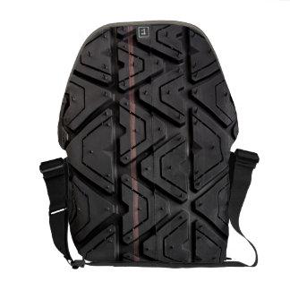 写真の現実的なタイヤの踏面の終わり メッセンジャーバッグ