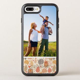 写真の秋パターン。 森林のフクロウ オッターボックスシンメトリーiPhone 8 PLUS/7 PLUSケース