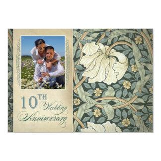 写真の第10結婚記念日 12.7 X 17.8 インビテーションカード
