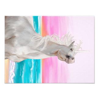 写真の紙のユニコーンのデジタル油絵 フォトプリント