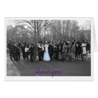 写真の紫色ありがとう ノートカード