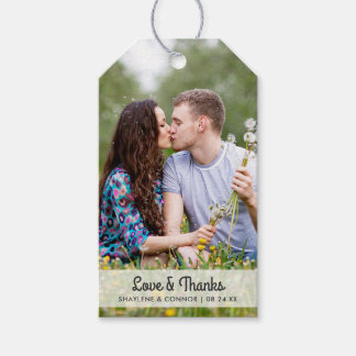 写真の結婚式の引き出物は のストライプのな背部に付けます ギフトタグパック