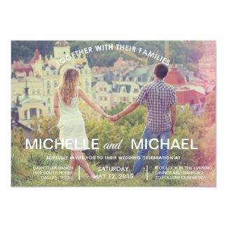 写真の結婚式招待状 12.7 X 17.8 インビテーションカード