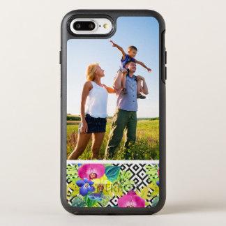 写真の蘭のベゴニアおよびシュロの葉 オッターボックスシンメトリーiPhone 8 PLUS/7 PLUSケース