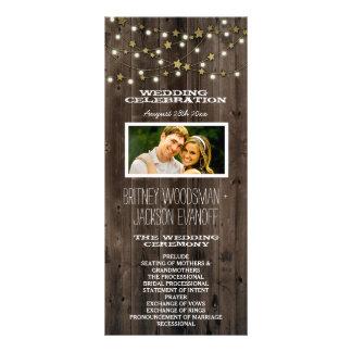 写真の西部ライト及び納屋木結婚式プログラム ラックカード