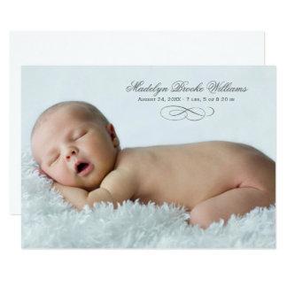 写真の誕生の発表カード|原稿の優雅 カード