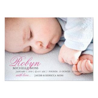 写真の誕生の発表|の一流の写真 12.7 X 17.8 インビテーションカード