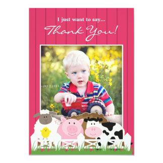 写真の農場の平らな招待状ありがとう カード