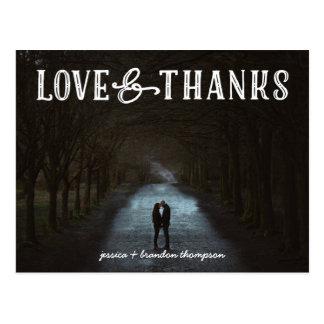 写真の郵便はがきを結婚する素朴な愛および感謝 ポストカード