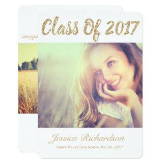 写真の金ゴールドの2017年の写真の卒業の発表 12.7 X 17.8 インビテーションカード