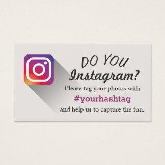 写真のInstagram Hashtagの挿入物を結婚するイベント 名刺