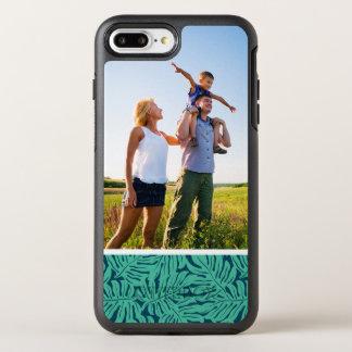 写真のMonsteraの熱帯葉パターン オッターボックスシンメトリーiPhone 8 Plus/7 Plusケース