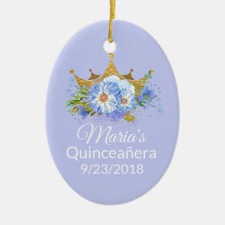 写真のQuinceañeraの記念品のオーナメント セラミックオーナメント