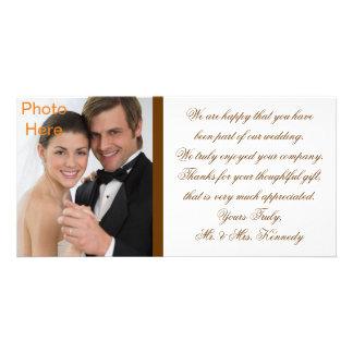 写真はカードを挿入します-結婚式は感謝していしています カード