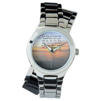 写真をインスパイア日の出のジョンの3:16 腕時計