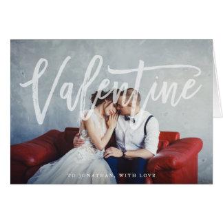 写真を持つロマンチックな原稿|のバレンタイン カード