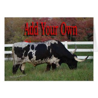 写真を長角牛カスタマイズ加えて下さい カード
