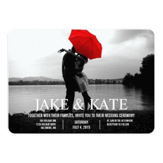 写真カード結婚式招待状|の名前 12.7 X 17.8 インビテーションカード
