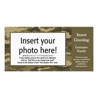 写真カード-タンの迷彩柄(休日、家族、他) カード