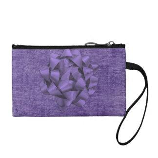 写真テンプレート-紫色のシュニールの質 コインパース