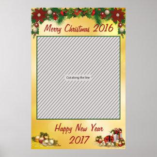 写真ブースのためのクリスマス・パーティフレームの支柱 ポスター
