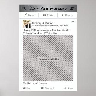 写真ブースのためのFacebookフレームのパーティーの支柱ポスター ポスター