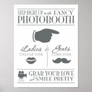写真ブースの印を結婚するヴィンテージ ポスター