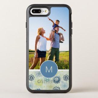 写真及びモノグラムのかわいい花パターン オッターボックスシンメトリーiPhone 8 PLUS/7 PLUSケース