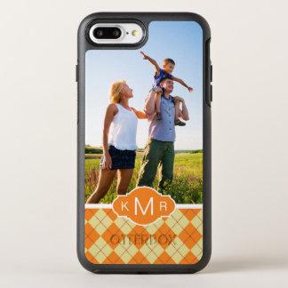 写真及びモノグラムのセーターの背景 オッターボックスシンメトリーiPhone 8 PLUS/7 PLUSケース