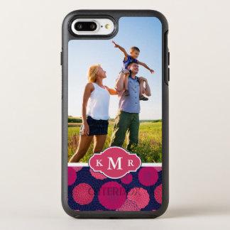 写真及びモノグラムの円形の花模様 オッターボックスシンメトリーiPhone 8 PLUS/7 PLUSケース