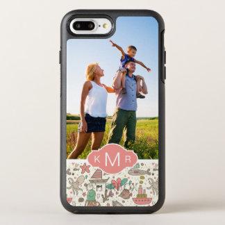 写真及びモノグラムの夏の船パターン オッターボックスシンメトリーiPhone 8 PLUS/7 PLUSケース