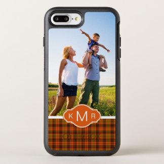 写真及びモノグラムの明るい秋の格子縞 オッターボックスシンメトリーiPhone 8 PLUS/7 PLUSケース