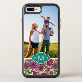 写真及びモノグラムの明るい花パターン オッターボックスシンメトリーiPhone 8 PLUS/7 PLUSケース